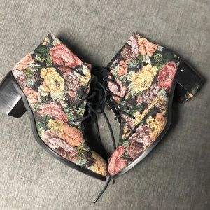 Retro flower booties